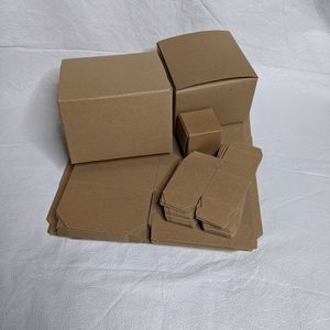 "24 Cardboard Gift Boxes Brown 2"" 5"" 6"""